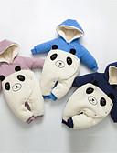povoljno Kompletići za Za dječake bebe-Dijete Dječaci Aktivan Dnevno Panda Jednobojni Pletenje / Kolaž Dugih rukava Pamuk Jednodijelno Plava / Dijete koje je tek prohodalo