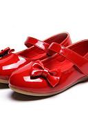 Χαμηλού Κόστους Φορέματα για κορίτσια-Κοριτσίστικα Παπούτσια PU Άνοιξη / Φθινόπωρο Ανατομικό Χωρίς Τακούνι για Νήπιο Μαύρο / Κόκκινο / Ροζ