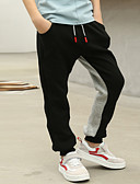 Χαμηλού Κόστους Παντελόνια για αγόρια-Παιδιά Αγορίστικα Βασικό Καθημερινά / Αθλητικά Συνδυασμός Χρωμάτων Βαμβάκι / Πολυεστέρας Παντελόνι Μαύρο