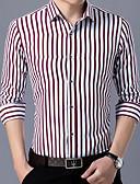 cheap Men's Accessories-men's plus size shirt - striped classic collar