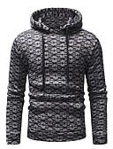cheap Men's Hoodies & Sweatshirts-Men's Basic Long Sleeve Hoodie - Striped Hooded Dark Gray L / Winter