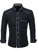 povoljno Muške košulje-Majica Muškarci Dnevno Jednobojni Obala / Dugih rukava