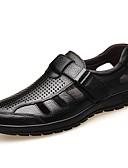 halpa Miesten bleiserit ja puvut-Miesten Comfort-kengät Nappanahka Kesä Sandaalit Musta / Ruskea