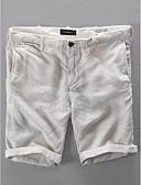 povoljno Muške duge i kratke hlače-Muškarci Osnovni Kratke hlače Hlače - Jednobojni Bež