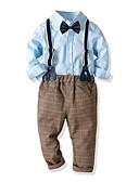 ieftine Seturi Îmbrăcăminte Băieți-Copii Băieți De Bază Imprimeu Manșon Lung Bumbac Set Îmbrăcăminte Albastru piscină