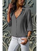 povoljno Majica-Bluza Žene - Osnovni Dnevno Pamuk Jednobojni Duboki V Sive boje / Sexy