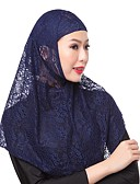 cheap Bikinis-Women's Basic Lace Hijab - Solid Colored Lace / All Seasons