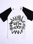 billige Overdele til drenge-Baby Drenge Basale Ensfarvet Kortærmet Polyester T-shirt Hvid