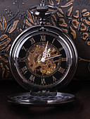 cheap Pocket Watches-Men's Skeleton Watch Pocket Watch Mechanical manual-winding Black Casual Watch Cool Analog Vintage Casual Steampunk - Black