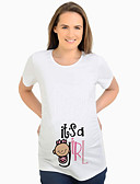 abordables Tops-Mujer Chic de Calle Camiseta Letra