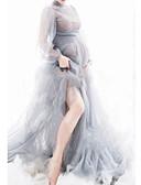 זול עליוניות-מקסי אחיד - שמלה נדן בסיסי בגדי ריקוד נשים
