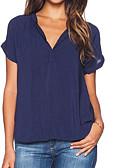 Χαμηλού Κόστους T-shirt-Γυναικεία T-shirt Βασικό / Κομψό στυλ street Μονόχρωμο Με κοψίματα