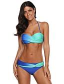 halpa Bikinis-Naisten Perus Niskalenkki Uima-allas Rubiini Wrap Poika Leg Bikini Uima-asut - Color Block Painettu L XL XXL Uima-allas / Seksikäs
