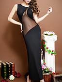 povoljno Ženske haljine-Žene Mrežica Super seksi Odijelo Noćno rublje Jednobojni Crn One-Size
