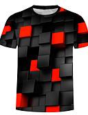 baratos Camisetas & Regatas Masculinas-Homens Camiseta Básico / Exagerado Estampado, 3D