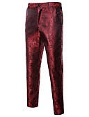 cheap Men's Pants & Shorts-Men's Street chic Suits Pants - Geometric Black / Sports