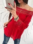 זול טישרט-אחיד בסיסי ליציאה חולצה - בגדי ריקוד נשים ורוד מסמיק M