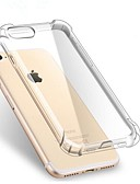 billige iPhone-etuier-Etui Til Apple iPhone X / iPhone 7 / iPhone 7 Plus Stødsikker / Transparent Bagcover Ensfarvet Blødt TPU for iPhone X / iPhone 8 Plus / iPhone 8
