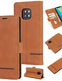זול מגנים לטלפון-מגן עבור Huawei Huawei Mate 20 pro ארנק / מחזיק כרטיסים / נפתח-נסגר כיסוי אחורי אחיד קשיח עור PU