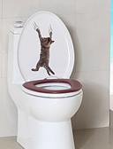 זול חולצות פולו לגברים-מדבקות לשירותים - מדבקות קיר חיות סלון / חדר שינה / מקלחת