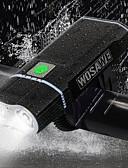 お買い得  メンズTシャツ&タンクトップ-- 自転車用ライト 自転車用ヘッドライト サイクリング 防水 パータブル 調整可 リチウム電池 2400 lm サイクリング - WOSAWE