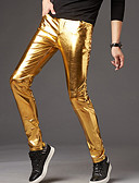 cheap Men's Pants & Shorts-Men's Party / Street chic Chinos Pants - Solid Colored Gold
