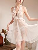 levne Robes & Sleepwear-Dámské Super Sexy Kostýmy Noční prádlo - Volná záda Jednobarevné