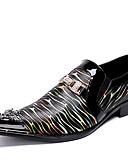 hesapli Kuvars Saatler-Erkek Ayakkabı Nappa Leather Bahar İş / İngiliz Oxford Modeli Günlük / Parti ve Gece için Siyah