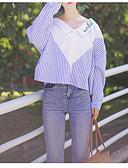 preiswerte Damen Röcke-Damen Gestreift / Einfarbig Hemd