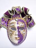 abordables Vestidos Lolita-Máscara / Máscara veneciana Adulto Vintage Mujer Morado / Rojo Tejido Fiesta Accesorios de cosplay Halloween / Carnaval / Mascarada Disfraces