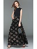 economico Abiti feste-Linea-A Con decorazione gioiello Lungo Jersey Serata formale Vestito con Con Piume / in pelliccia di LAN TING Express