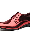 baratos Ternos & Blazers Masculinos-Homens Sapatos formais Couro Envernizado Primavera & Outono Casual / Formais Oxfords Não escorregar Dourado / Azul / Vinho / Festas & Noite