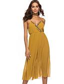זול חולצה-ללא שרוולים M L XL אחיד, סרבלים רגל רחבה שחור צהוב בסיסי בגדי ריקוד נשים