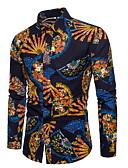 abordables Camisas de Hombre-Hombre Estampado Camisa A Rayas
