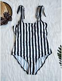 cheap One-piece swimsuits-Women's One Piece Swimsuit Quick Dry Chinlon Swimwear Beach Wear Swimwear Striped Swimming Rafting