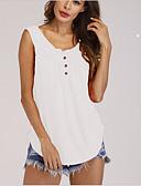 baratos Camisetas Femininas-Mulheres Camiseta Sólido Decote U