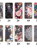 זול מגנים לטלפון-מגן עבור Huawei Mate 10 lite / Huawei Mate 20 lite / Huawei Mate 20 pro שקוף / תבנית כיסוי אחורי הדפסת תחרה / פרח רך TPU