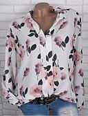 abordables Blusas para Mujer-Mujer Camisa Floral Blanco XXXL