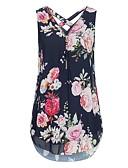 Χαμηλού Κόστους Βρεφικά φορέματα-Γυναικεία T-shirt Κομψό στυλ street Φλοράλ Χιαστί / Στάμπα