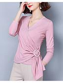halpa Naisten hameet-Naisten V kaula-aukko Ohut Yhtenäinen Pusero Punastuvan vaaleanpunainen XL