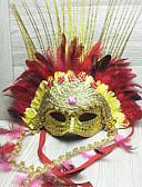 halpa Uinti-cosplay-Cosplay Venetsialainen naamio / Puolimaski Aikuisten Halloween Naisten Kultainen Muovit / Sulka / Kangas Party Cosplay-tarvikkeet Halloween / Karnevaali / Masquerade Puvut / Nainen