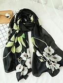 cheap Women's Scarves-Women's Rectangle Scarf - Floral Tassel