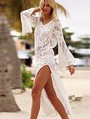 abordables Camisetas y Tops de Hombre-Mujer Escote Blanco Falda Tapadera Bañadores - Un Color Encaje M L XL Blanco / Sexy