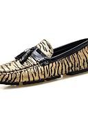 hesapli Kuvars Saatler-Erkek Ayakkabı Mikrofiber İlkbahar & Kış Mokasen & Bağcıksız Ayakkabılar Günlük için Altın / Gümüş