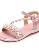 billiga Brudklänningar-Flickor Skor Mikrofiber Sommar Komfort Sandaler för Barn Beige / Rosa