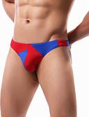abordables Ropa interior para hombre exótica-Hombre Slip / G-string Underwear Retazos Baja cintura