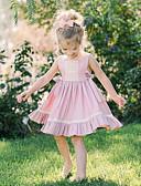 Χαμηλού Κόστους Βρεφικά σετ ρούχων-Μωρό Κοριτσίστικα Βασικό Μονόχρωμο Αμάνικο Βαμβάκι Φόρεμα Ανθισμένο Ροζ