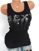 זול שמלות נשים-גיאומטרי בסיסי מידות גדולות עליונית טנק - בגדי ריקוד נשים פאייטים / חרוזים