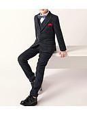 זול חליפות לנושאי הטבעת-אפור פולי / טרילן חליפה לנושא הטבעת  - 1set כולל עניבת פרפר