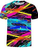 abordables Camisetas y Tops de Hombre-Hombre Estampado - Algodón Camiseta, Escote Redondo 3D / Arco iris Arco Iris XL / Manga Corta / Verano